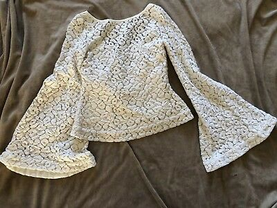 elizabeth and james Long Bell Sleeve Off-White Top Size M