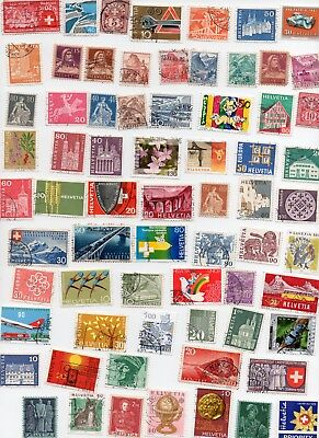 SWITZERLAND Stamps 145 All Different - Off Paper
