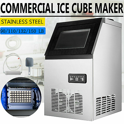 40~68 KG/24H Commercial Ice Maker Machine Auto Clean Reservation Function 220V