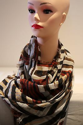 SABA Tribal print long scarf check multi in colour new with tag modal