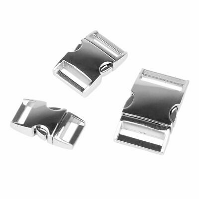 5 Silver Metal Buckle Webbing Strap Bag Fastener Side Release Clasp Clip 15-25mm