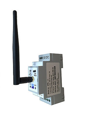 DIN Rail Wi-Fi Relay for iOS and Android, Wireless, S4H-RE-20, Smart4House