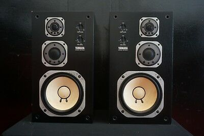 Yamaha NS-100M Pair Studio Monitor 3 Way Speaker Matched Pair