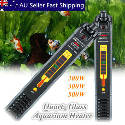 AUS Aquarium Submersible Heater Fish Tank Auto Water Thermostat 200/300/500W