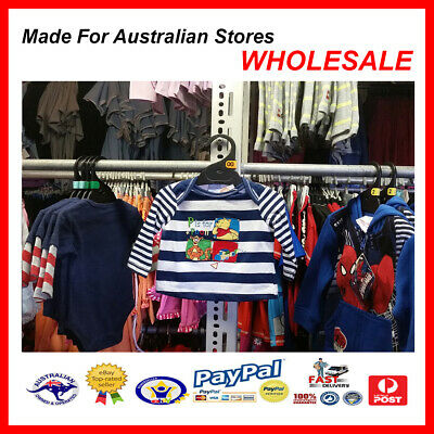 AUS WHOLESALE BABY KIDS CLOTHING 50PCS Pooh Bear & Tigger Top  MYER RP $14.99