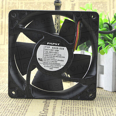 ebmpapst TYP 6248-008 cooling fan 24v 16W 120*120*38mm 3pin #M4037 QL