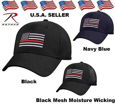 066d023f Support Firefighter Thin Red Line Flag Cap Low Profile Hat Baseball Fire  Dept.