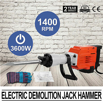 3600W Electric Rotary Concrete Drill Breaker Demolition Power Jack Chisel Hammer
