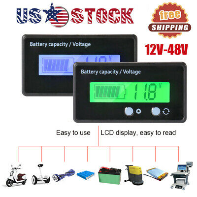 LCD Display Acid Lead Battery Capacity Meter Indicator Voltmeter Voltage Tester