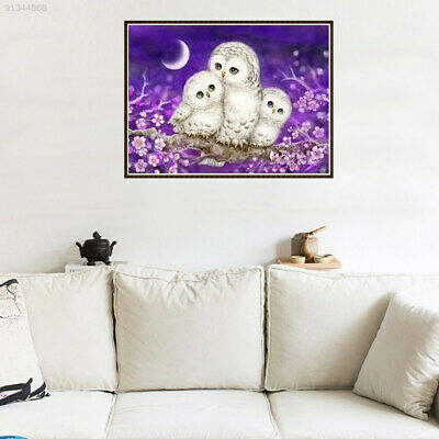 0511 Creative Bald Eagle Painting Diamond Embroidery Gift 25*20cm Canvas Purple