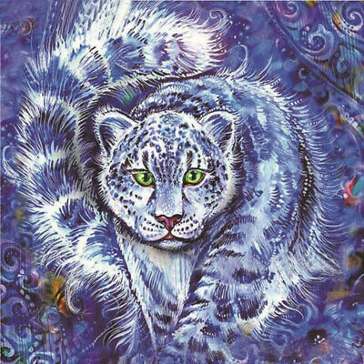 5B42 Vivifying Tiger Painting 5D Rhinestone Picture Cross Stitch 1 Set Purple