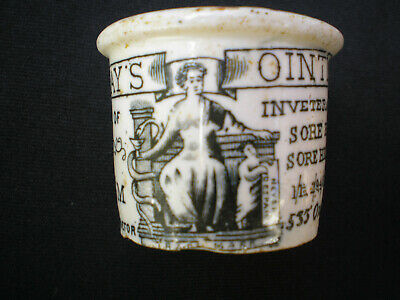 Holloway's  Ointment Jar ~ Stone Jar ~ London.