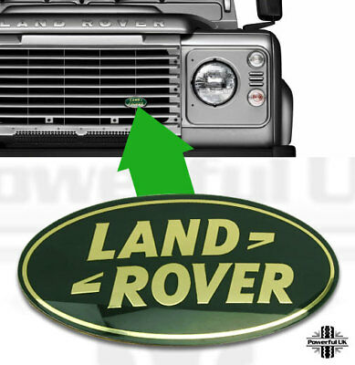 Land Rover Defender GREEN oval front grille badge oval 90 110 logo upgrade new