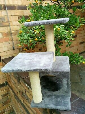 Cat tree scratching post, house furniture, multi level, 60cm tall.
