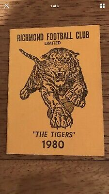 Richmond Tigers AFL VFL 1980 Membership Premiership Year!