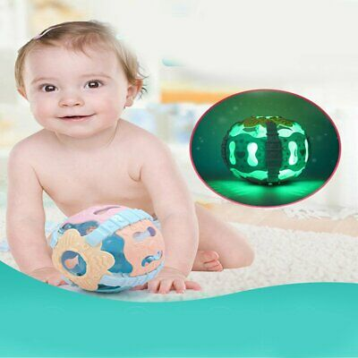 Baby Rattle Ball Toy Hand Shaker Bell with Sound Light Educational Toy WW