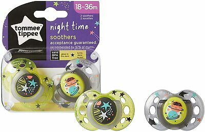 Tommee Tippee Nightime Baby Soother 18-36 Months (Pack of 2) - FREE DELIVERY!