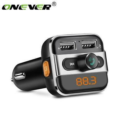 Onever FM Transmitter Bluetooth Car MP3 Player Wireless Car Kit FM Modulator LED