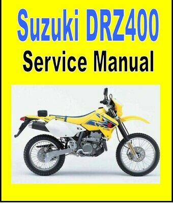 SUZUKI DRZ400 DRZ400 SM Shop Service Manual Parts Catalog
