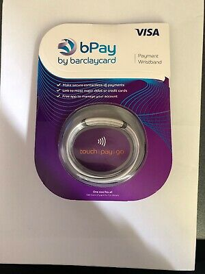 Bpay By Barclaycard Wristband Contactless Payment Device, Light Grey