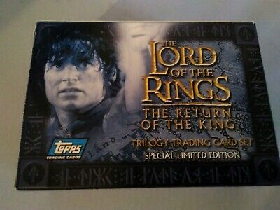 Topps Lord Of The Rings The Return Of The King Trilogy Trading Card Set Complete