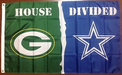 Green Bay Packers Dallas Cowboys House Divided 3 x5  Banner Flag Free  Shipping c6d6a12c1