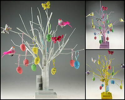 40cm Spring Tree With Birds And Eggs Easter Decoration - Pink, Yellow, White