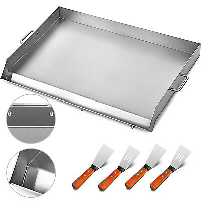 """32"""" x 17"""" Stainless Steel Griddle Flat Top Grill BBQ Stove Outdoor Griddle"""