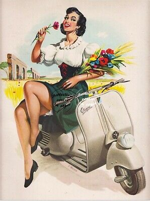 """A3+ A3 Pin-Up Art /""""Joelle/"""" Vintage Retro Cult Pinup Poster re-print A4"""