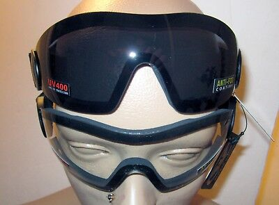 2 Skydive Motorcycle Bike Goggle Clear Smoked Googles Skydive Parasailing Padded