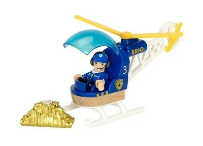 Brio Wooden Railway Trains Police Helicopter 3 Pieces Age 3+ 33828 Boxed New