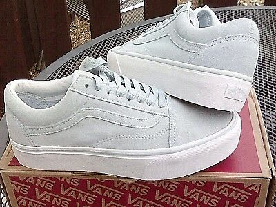 VANS OFF THE WALL OLD SKOOL PLATFORM womens older girls trainers size 3 new 6a110529475