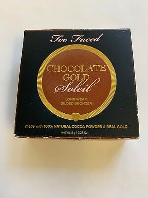 Too Faced Chocolate Gold Soleil Gilded Bronzer .28 oz