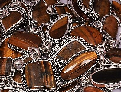 Tiger Eye 1pcs Pendants Wholesale Lots 925 Silver Plated Handmade Pendants
