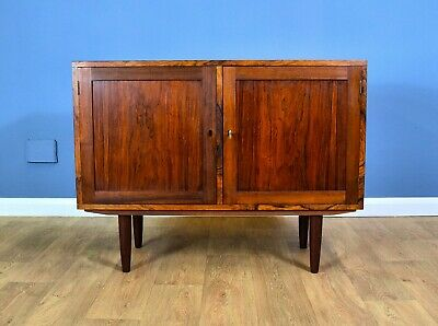 Mid Century Retro Vintage Danish Rosewood Low Lockable Sideboard TV Cabinet 70s