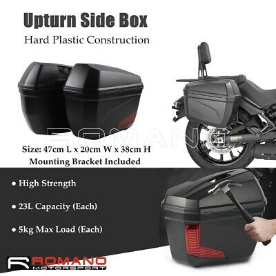 Motorcycle Street Fighter Cruiser Luggage Tool Dual Side Cases Box With Brackets