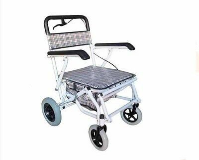 New Lattice 4 Wheels Convenient Foldable Shopping Luggage Trolleys With Seat *