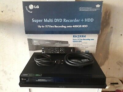 LG RH299H - HDD/DVD Recorder - 400GB HDD Cables, Remote in box (Region Free)