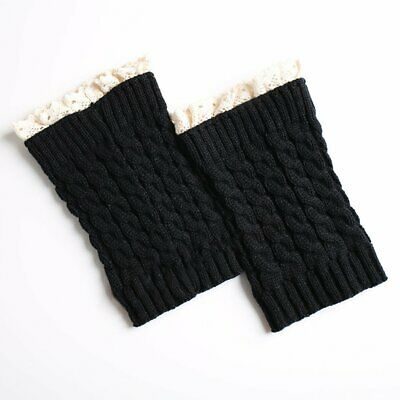 Knitted Leg Warmers Socks Hemlock Boot Cuffs Crochet Long Leggings Socks NiML