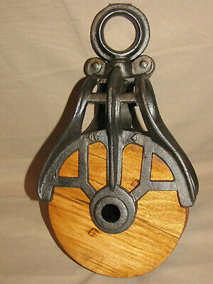 Antique / Vintage Cast Iron OK Barn Pulley Old Farm Tool Rustic Primitive