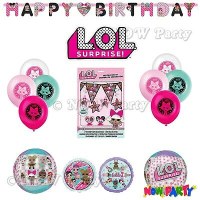 LOL Suprise Birthday Party Supplies Girls Childrens Balloons & Decorations
