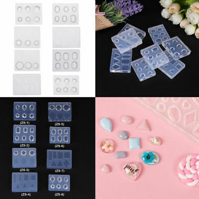 DIY 3D Rhinestone Nail Art Mold Silicone UV Gel Carved Mould Manicure Decor
