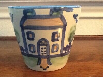 M. A. Hadley country scene House pattern Flower/cache Po