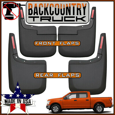 04-12 Chevy Colorado w//o Fender Flares Husky Splash Guard Mud Flap Front/&Rear