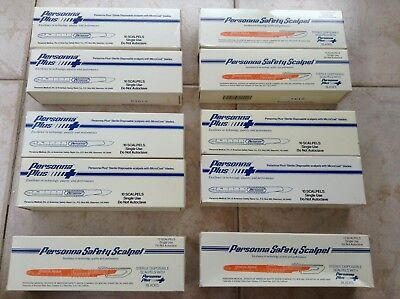 10 x 10 (100 pieces) PERSONNA Safety Sterile disposable scalpel Personna blades