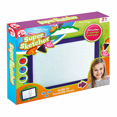 Super Sketcher Erasable Magic Magnetic Easy Writing Drawing Doodle Pad Gift