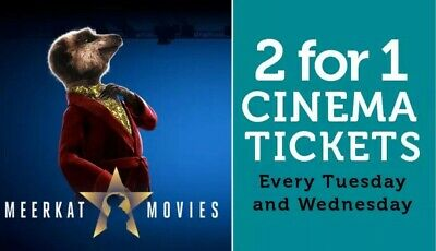 Meerkat Movies 2 For 1 Cinema Tickets Code *Valid Tuesday And Wednesday*