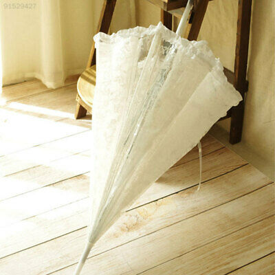 3085 Lace Umbrella Transparent 23 Inch Dome Frilly Wedding Decoration Parasols