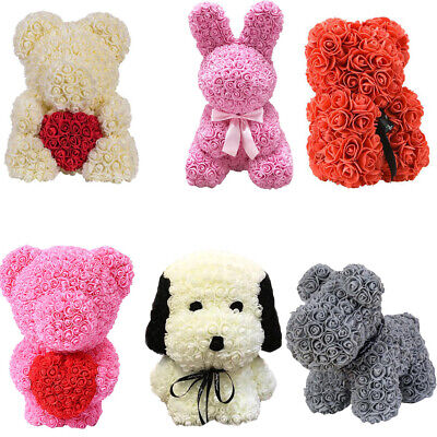 Making Flowers Rose Bear / Dogs Dolls Valentine Mother Gifts Wedding Decor