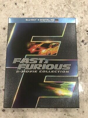 Fast & Furious: 6 Movie Collection (Blu-ray DVD, 2014, 6-Disc Set)